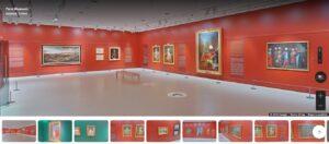 Virtual museum tour
