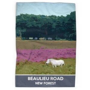 Beaulioeu Road Tea Towel