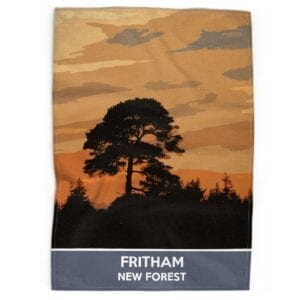 Fritham tea towel