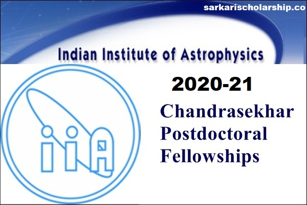 Chandrasekhar Post Doctoral Fellowships { 2 Lakh } 2020