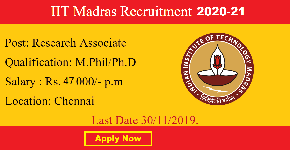 IITM Research Associateship 2020