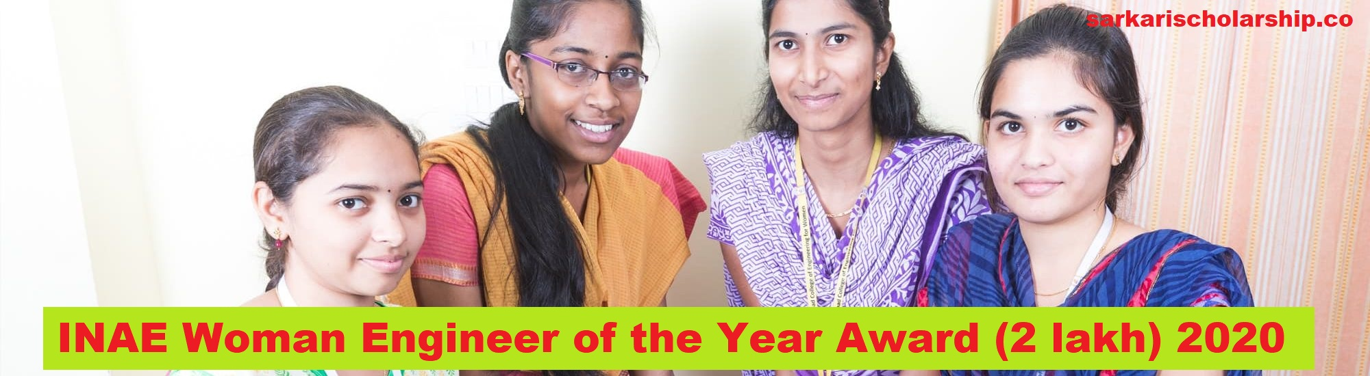 INAE Woman Engineer of the Year Award (2 lakh) 2020