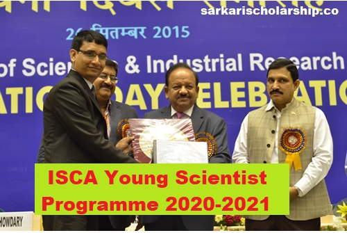 ISCA Young Scientist Programme 2020-21