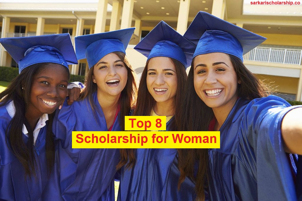 Three girls are celebrating her joy for getting woman scholarship
