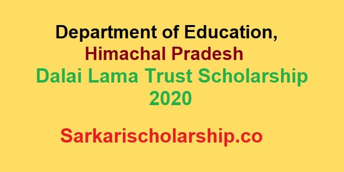 dalai lama trust pg scholarship 2020 - how to apply, Last Date, Eligibility