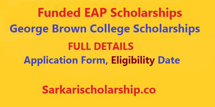 George Brown College Scholarships 2020-21