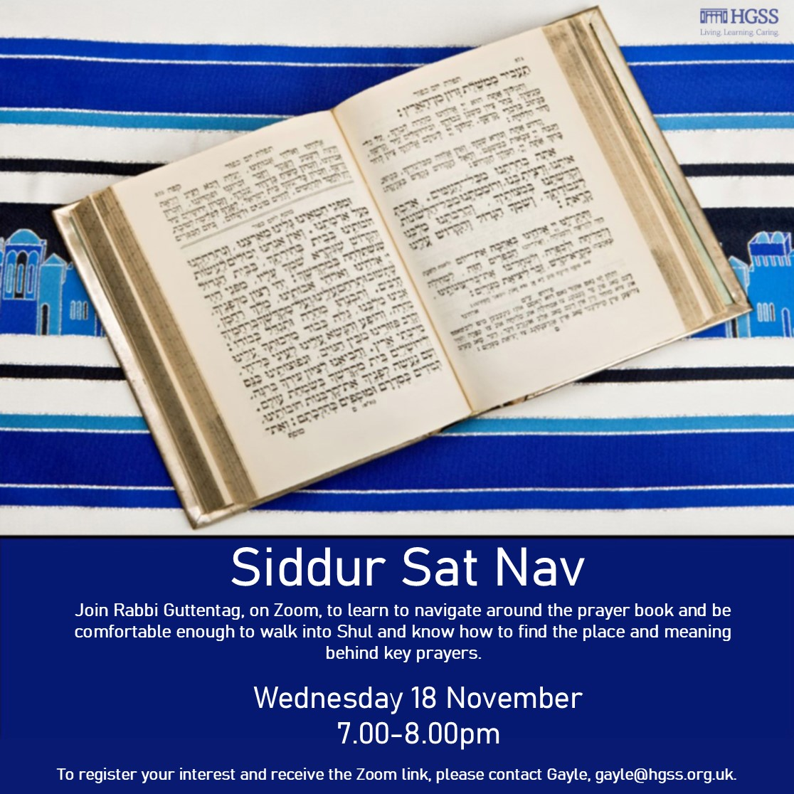 Siddur Sat Nav @ Online (Contact Gayle for link)