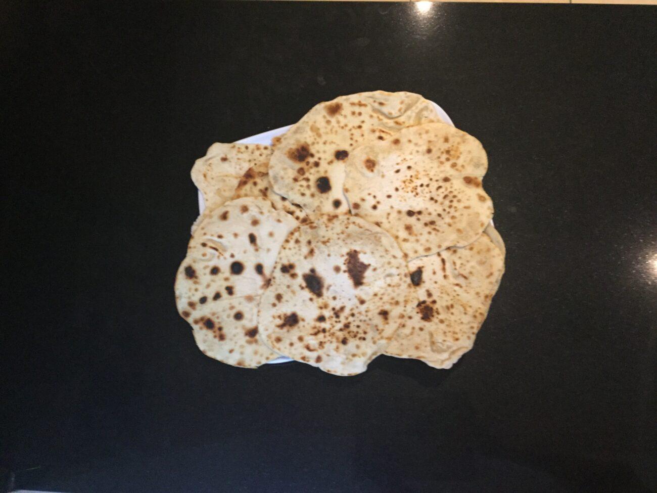 Roti recipe - side dish to accompany a curry