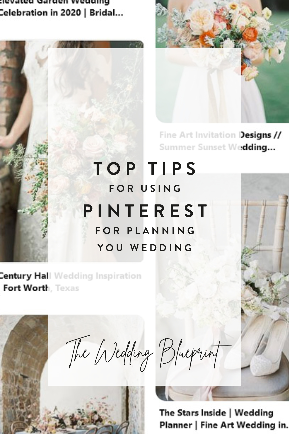 Top Tips for planning your wedding on Pinterest