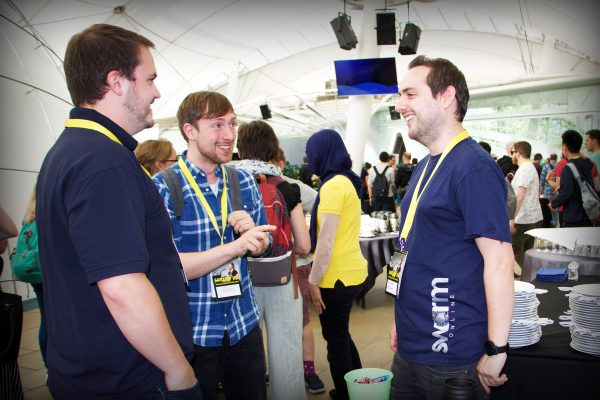 Daniel, Swarm Developer meets his future employers at ScotlandJS