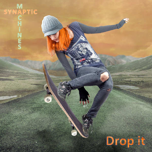 """CD Single Front cover of """"Drop it"""" (Album """"Drop it"""" produced by Edouard Andre Reny, Published by Synaptic Machines) This track is inspired by what I feel when surfing the road full blast on my longboard."""