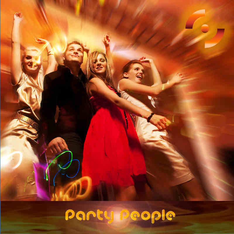 """Artwork of """"Partty People"""": """"Party People"""" is an effervescent Latin Electro dance track orchestrated around a powerful Moombah rhythm, an hypnotic bass line, percussive synths and pianos, and catchy male and female vocal hooks."""