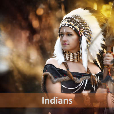 """Artwork of """"Indians"""", a royalty free music track by Synaptic Machines."""