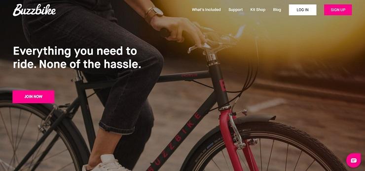 Buzzbike website screenshot