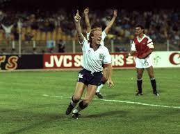 Mark Wright celebrating at Italia 90