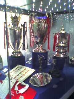 The 1999 Manchester United Treble Trophies