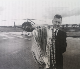 Lex Gold With The SPL Trophy