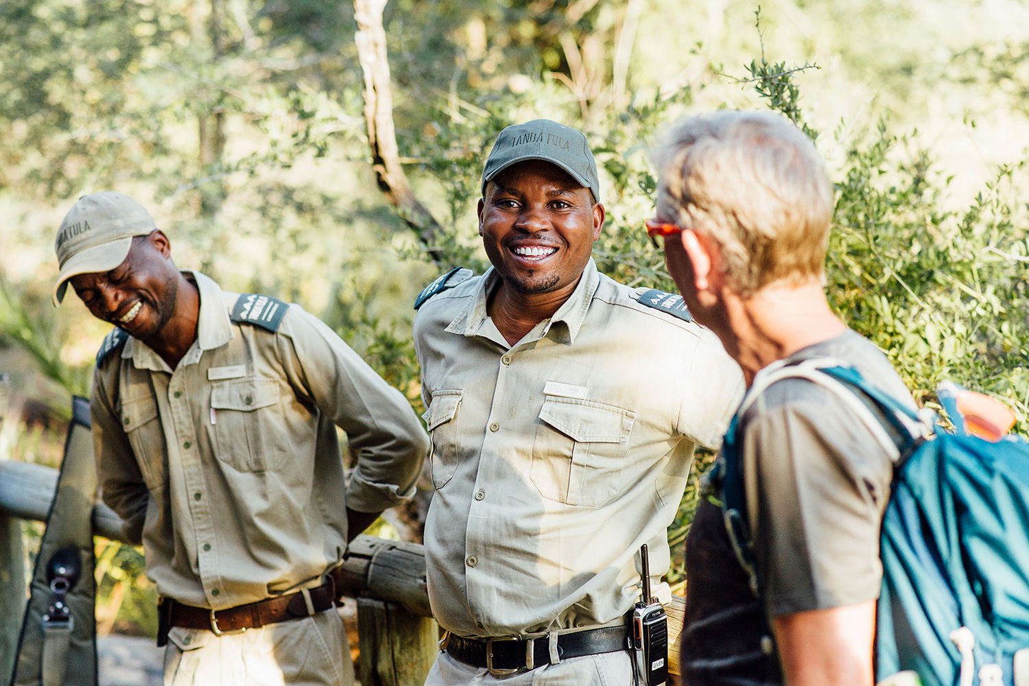 Tanda Tula Rishilé Camp - safari guides with guests in the Greater Kruger, South Africa