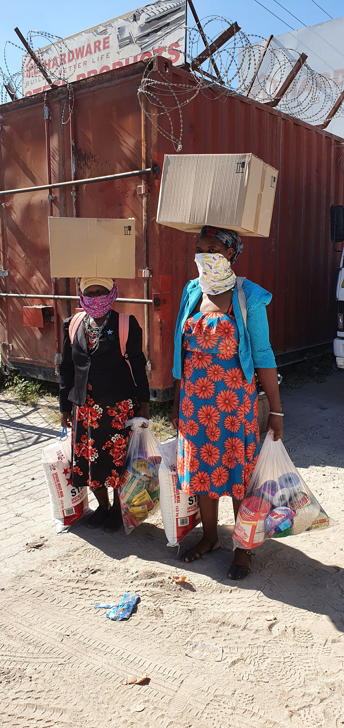 Tanda Tula - food basket collection by community members