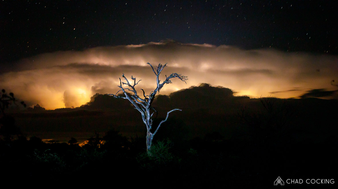Tanda-Tula lightning by Chad Cocking in Contrasts
