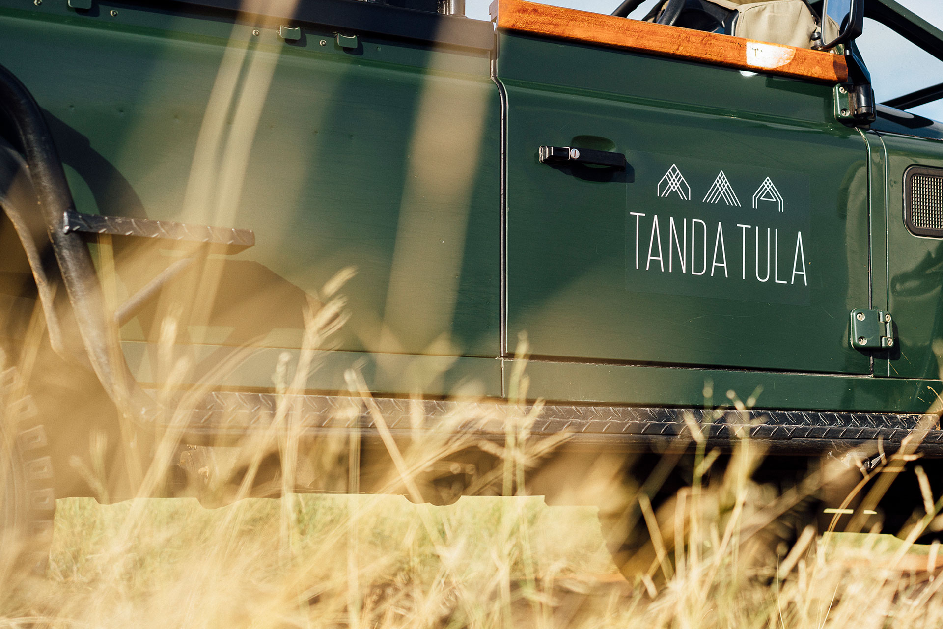Tanda Tula - safari vehicle on a game drive in the Greater Kruger, South Africa