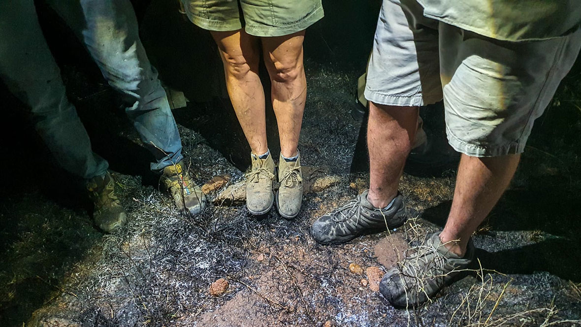 Tanda Tula - dirty shoes after fighting a fire