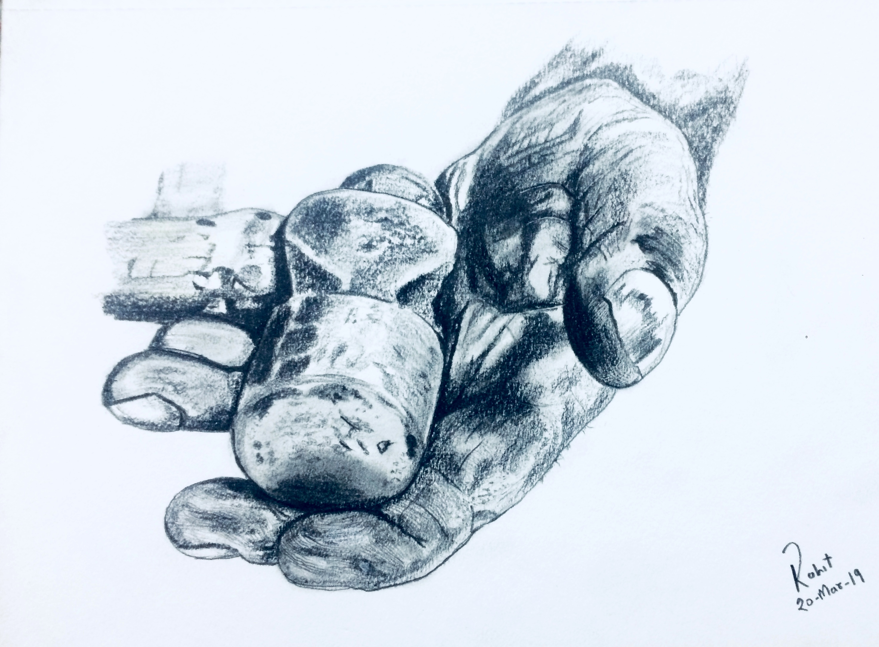 Hammer in Hand,  200 GSM PAPER, 6″ x 8″ CHARCOAL