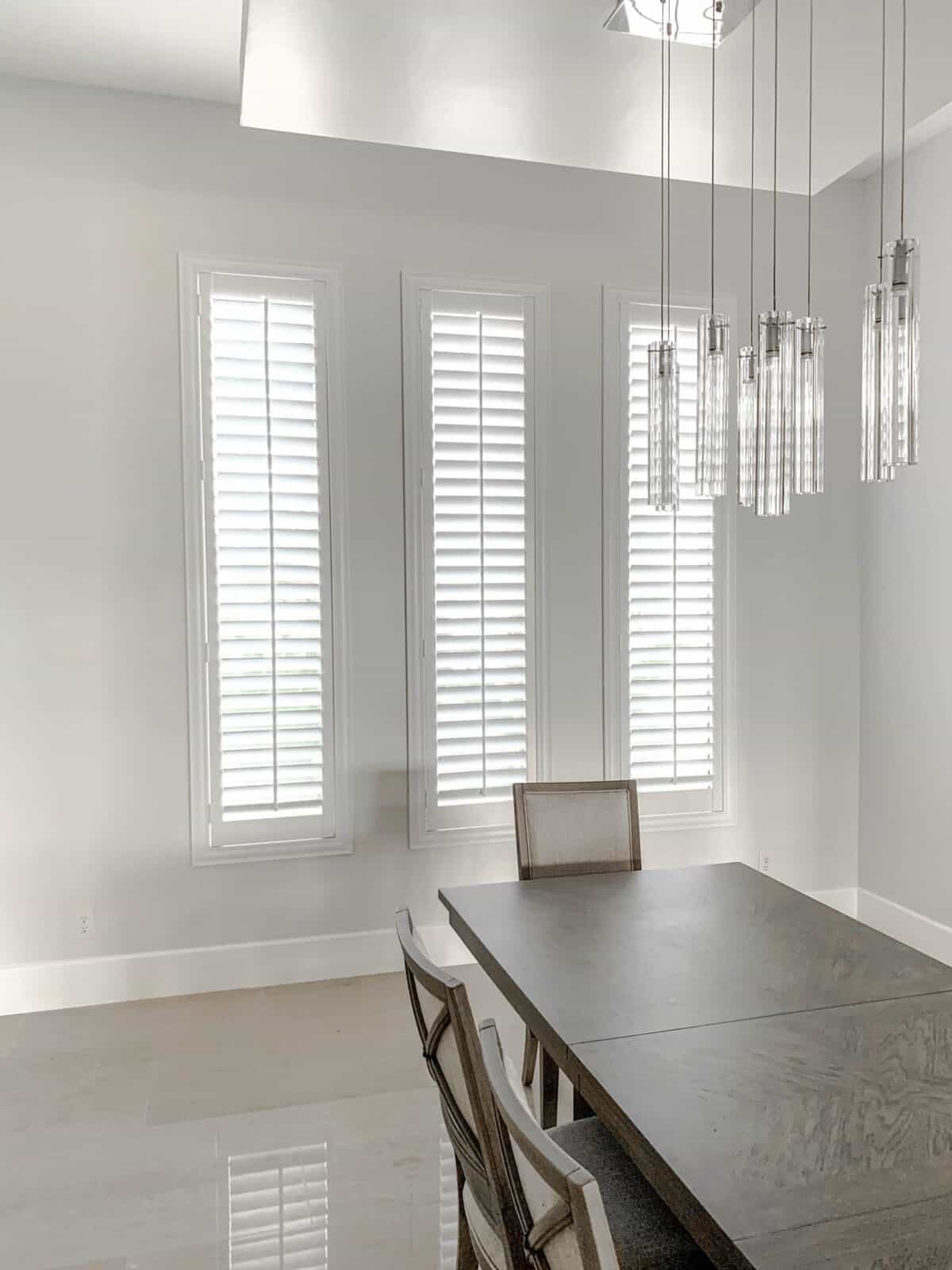 dinning room shutters