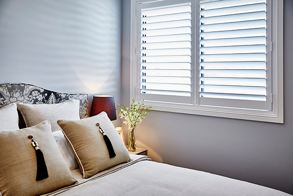 bedroom plantation shutters