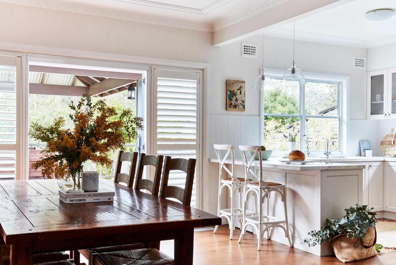 Las vegas window shutter in kitchen