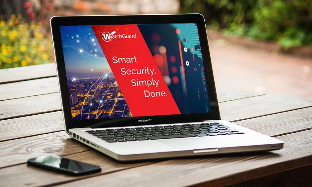 laptop showing watchguard screenshot