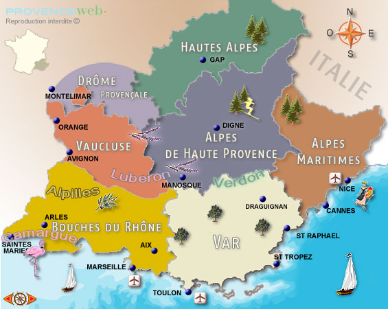 areas of provence
