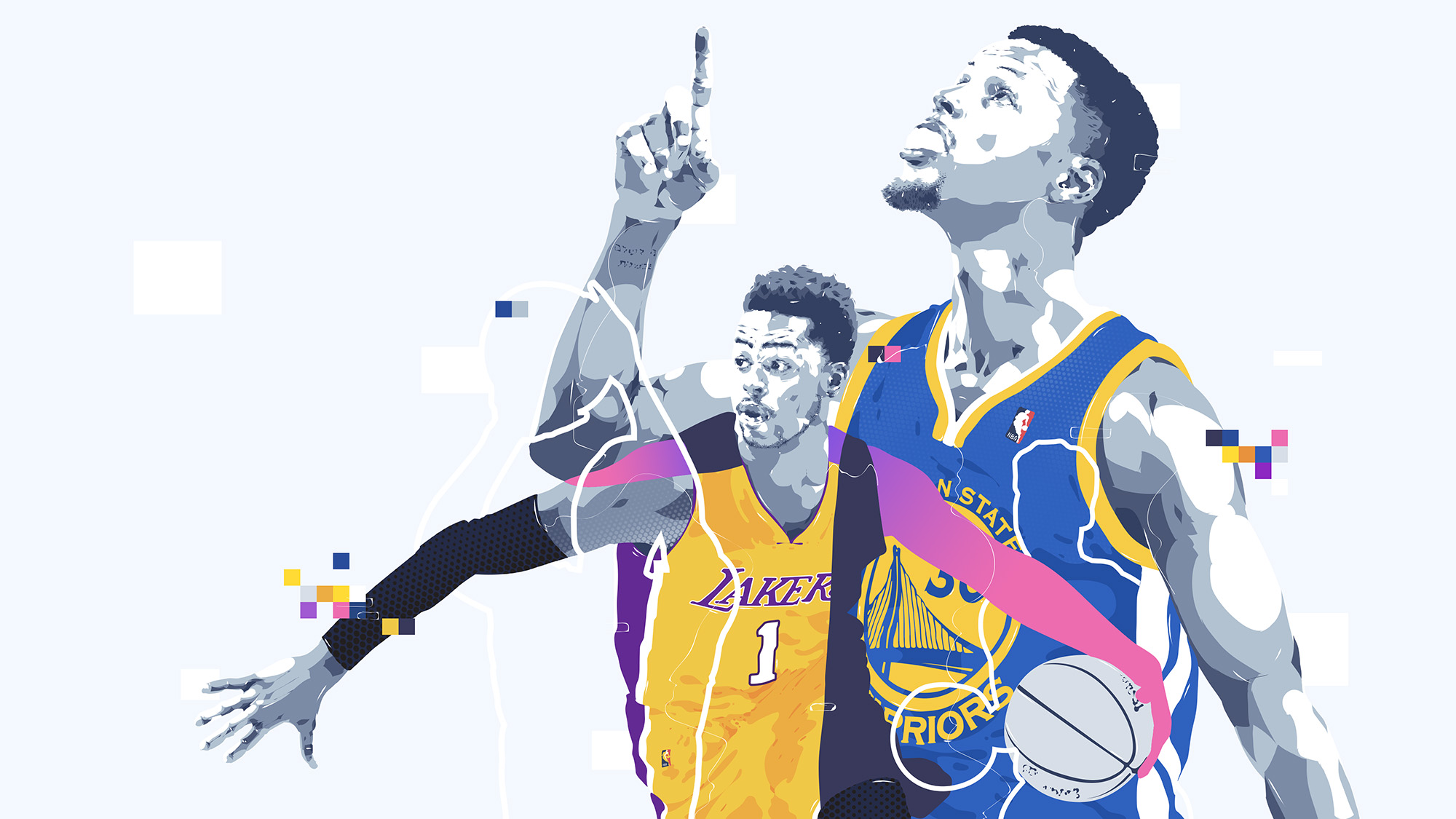DAngeloRussell-StephCurry