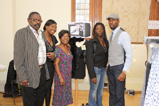 Wakeup Campaign founder with family in Battersea Arts Centre