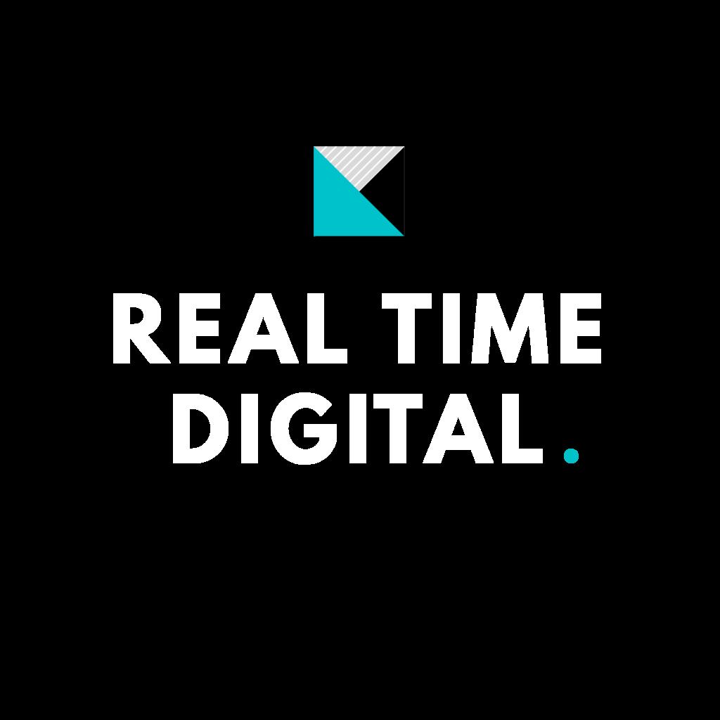 Real Time Digital Logo White
