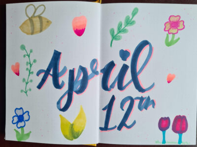 April 12th Mindfull Giraffe and Alcohol Markers