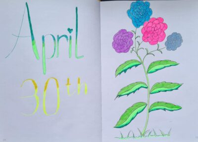 April 30th Journal Page