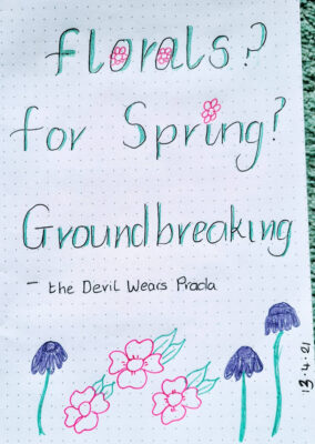 Lettering April 13th