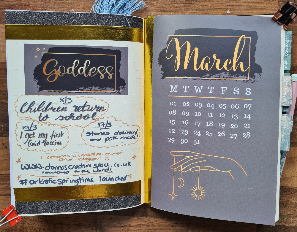 March Page Goddess