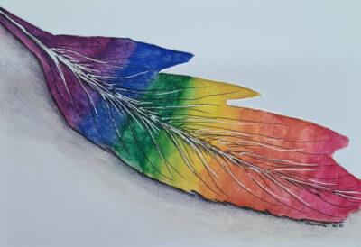 Rainbow Feather Scrawlr April 21