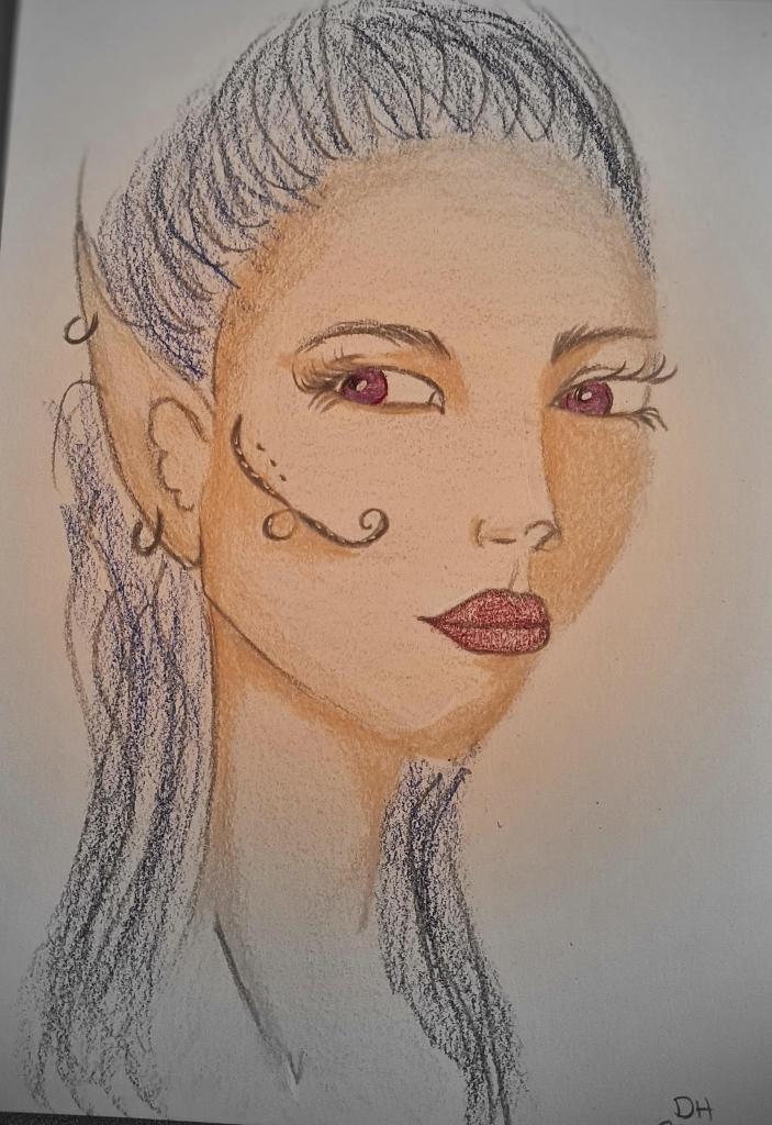 Karen Campbell Class 3 quarter face coloured pencil