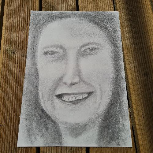 graphite self portrait