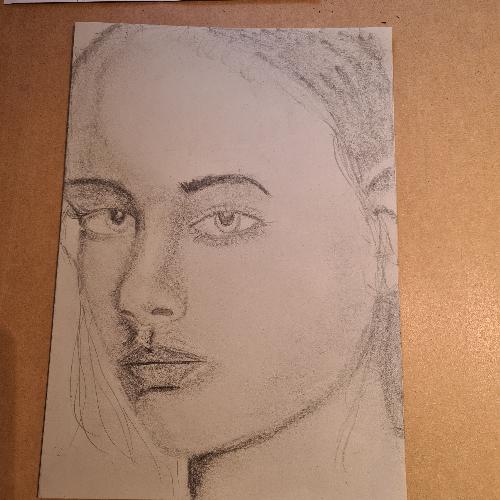 portrait graphite in progress