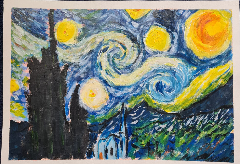 Study of Van Gogh Starry Night
