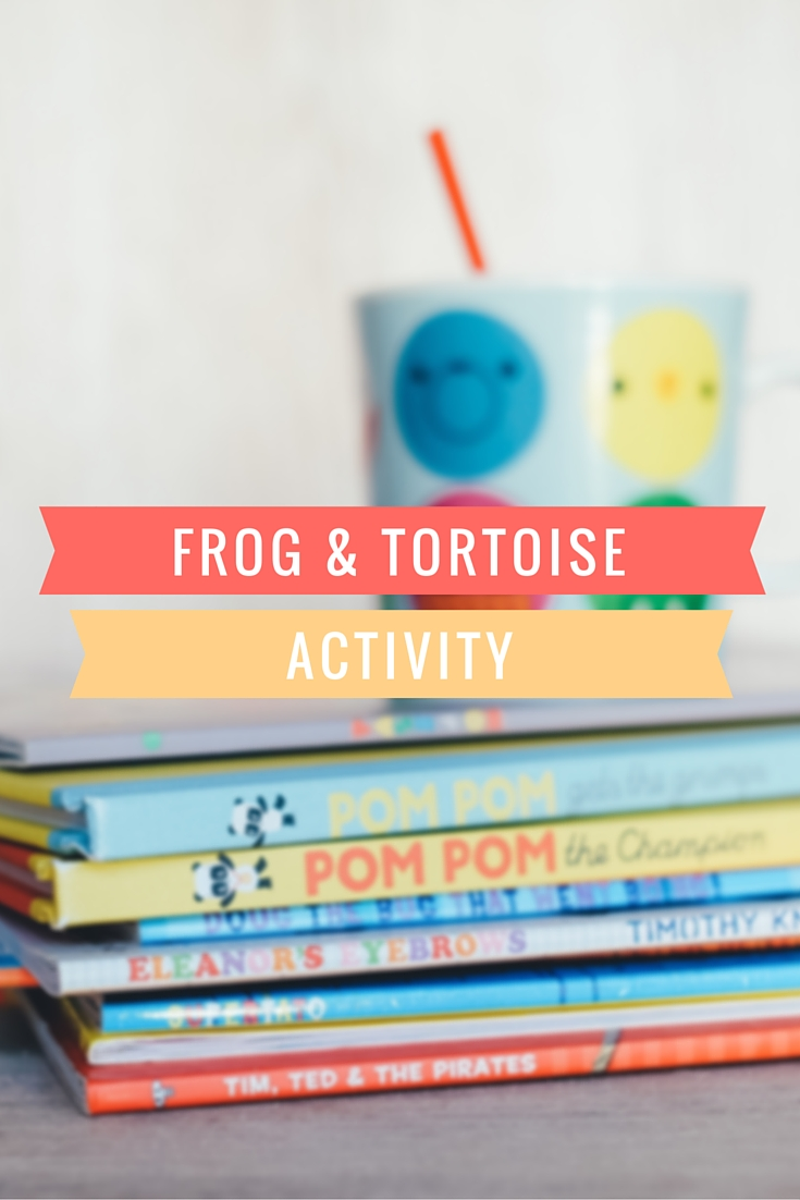 Frog and tortoise activity to help children learn to read #literacy #reading