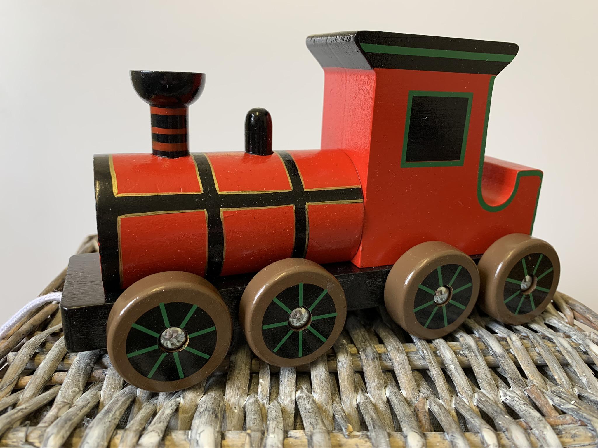 Wooden Pull Along Steam Train