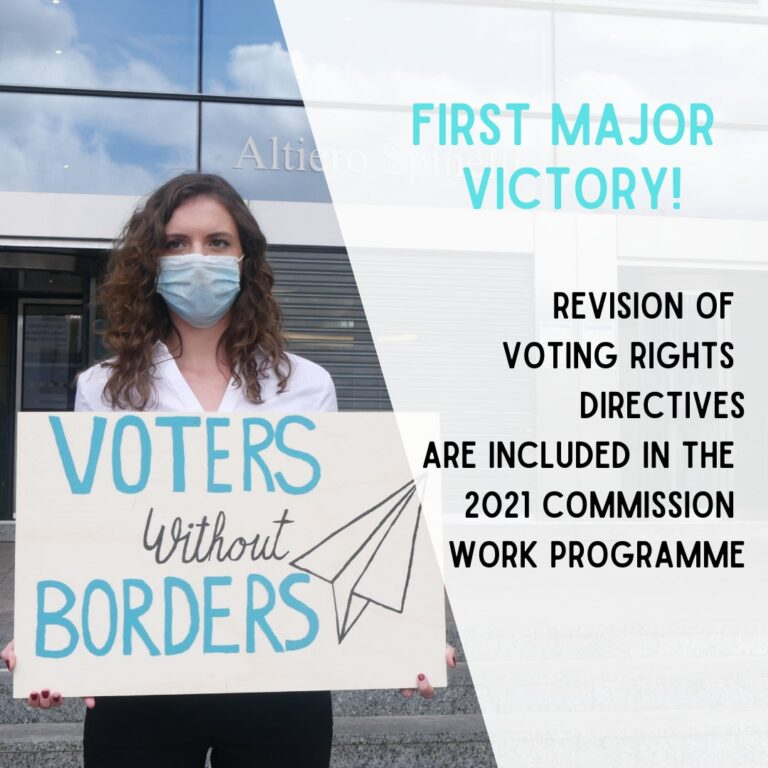 Read more about the article 'Voters Without Borders' claim first major victory!
