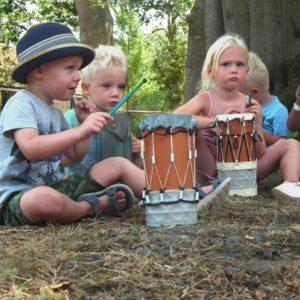 De cilindertroms worden geïntegreerd in diverse workshops voor jong en oud.
