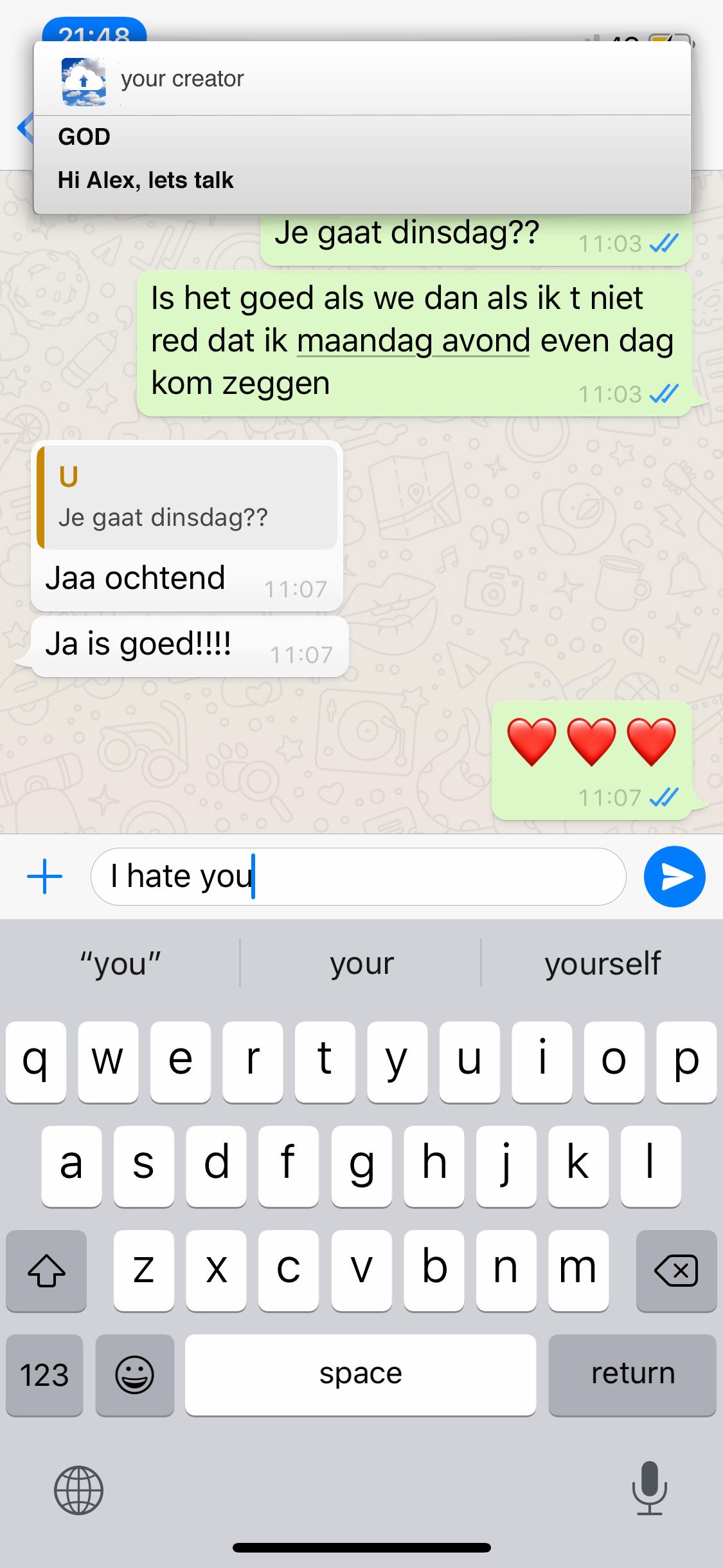 chat met god