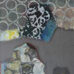 """""""İsimsiz"""", tuval üzerine karışık teknik, 100 X 80 cm, 2016"""